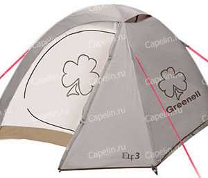 Палатка Эльф 3 V3 GREENELL Коричневая