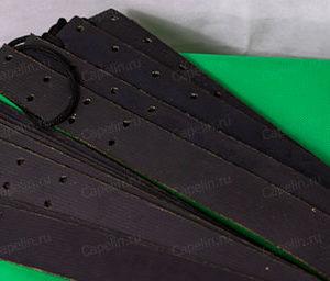 Комплект крепления для лыж. Транспортерная лента + амортизатор