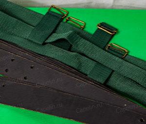 Комплект крепления для лыж. Транспортерная лента + пяточный ремень + амортизатор