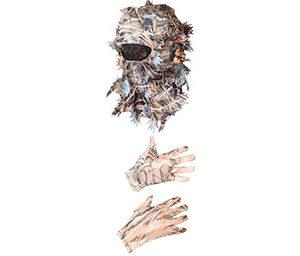 Маскировочный комплект (маска + перчатки). Камыш. р. 24-26