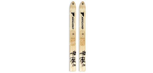 Лыжи Охотник дерево-пластик 165см